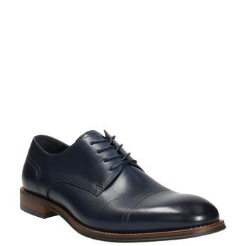 Ležérní kožené polobotky modré bata, modrá, 826-9681 - 13
