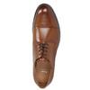 Hnědé kožené Derby polobotky bata, hnědá, 826-3682 - 26