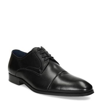 Kožené pánské Derby polobotky bata, černá, 824-6406 - 13