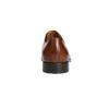 Hnědé kožené Derby polobotky bata, hnědá, 826-3682 - 17
