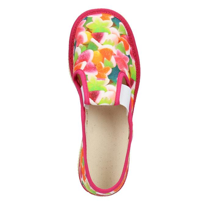 Dívčí domácí obuv se vzorem bata, růžová, 279-5122 - 15