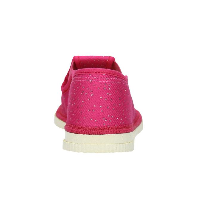 Růžové dětské přezůvky bata, růžová, 279-5121 - 16