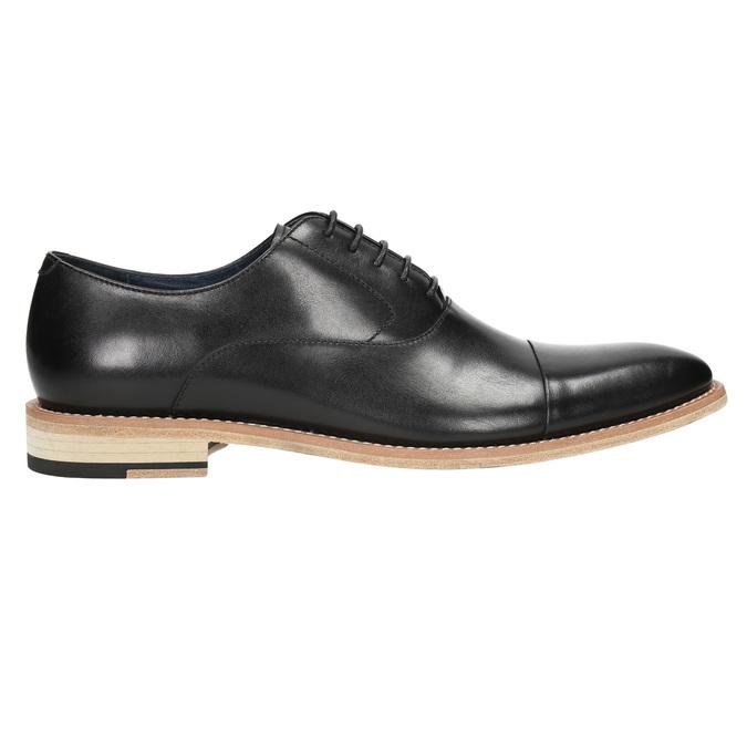 Celokožené Oxford polobotky bata, černá, 824-6414 - 15
