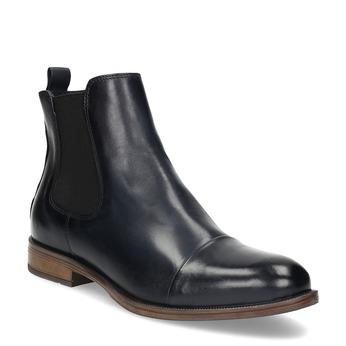 Dámská kožená Chelsea obuv bata, modrá, 594-9636 - 13