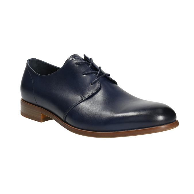 Modré kožené polobotky bata, modrá, 826-9680 - 13