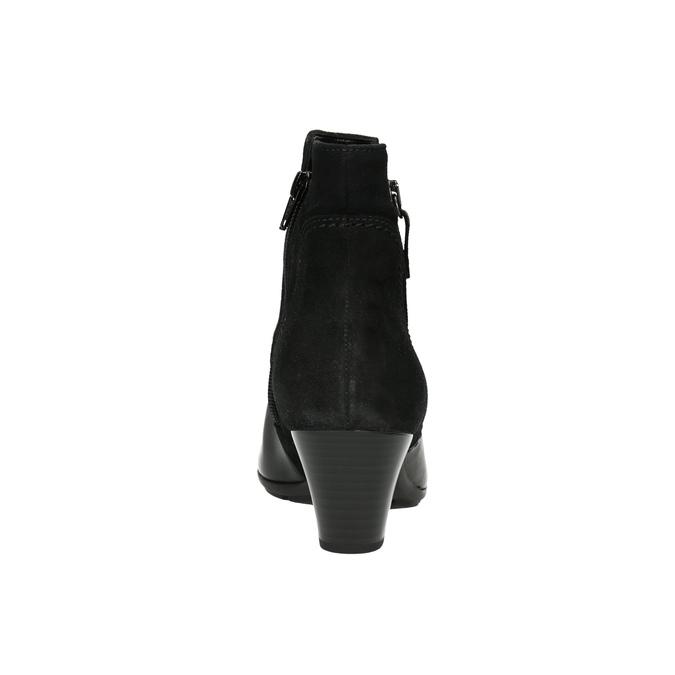 Kožené kotníčkové kozačky gabor, černá, 716-6028 - 17