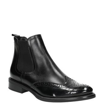 Dámská kožená Chelsea obuv bata, černá, 594-6638 - 13