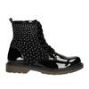 Dětská kotníčková obuv s kamínky mini-b, černá, 321-6611 - 15