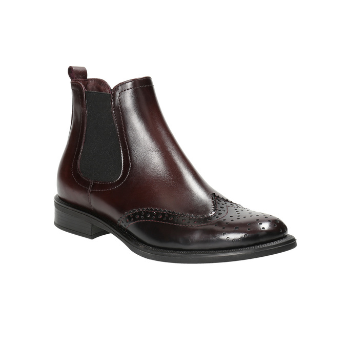 Kožená obuv ve stylu Chelsea bata, červená, 594-5638 - 13
