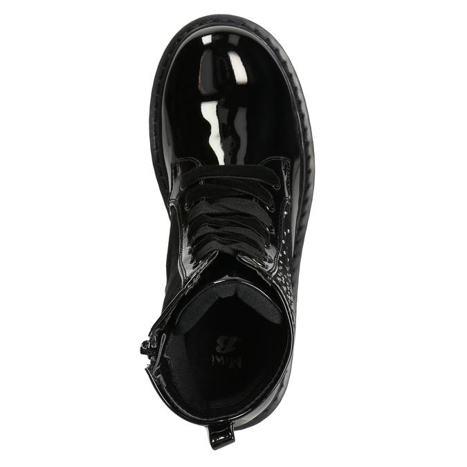 Dětská kotníčková obuv s kamínky mini-b, černá, 321-6611 - 19