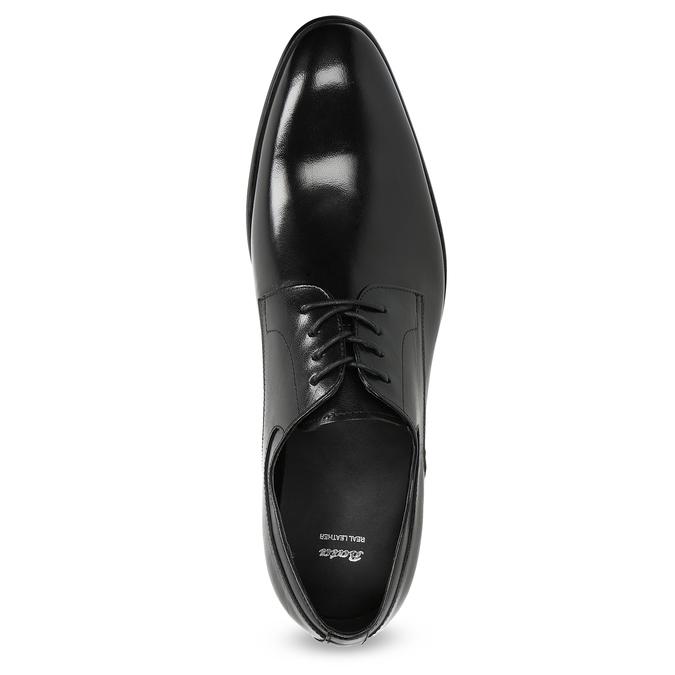 Pánské kožené Derby polobotky bata, černá, 824-6233 - 17