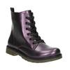 Metalická dětská obuv mini-b, fialová, 321-9612 - 13