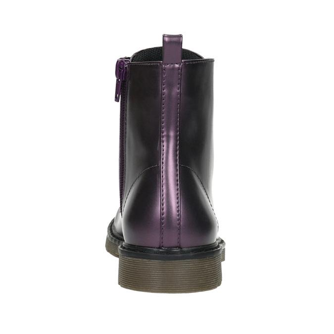 Metalická dětská obuv mini-b, fialová, 321-9612 - 17