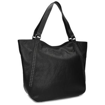 Černá dámská kabelka s prošitím bata, černá, 961-6787 - 13