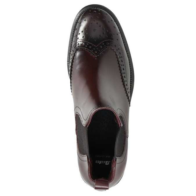 Kožená obuv ve stylu Chelsea bata, červená, 594-5638 - 19