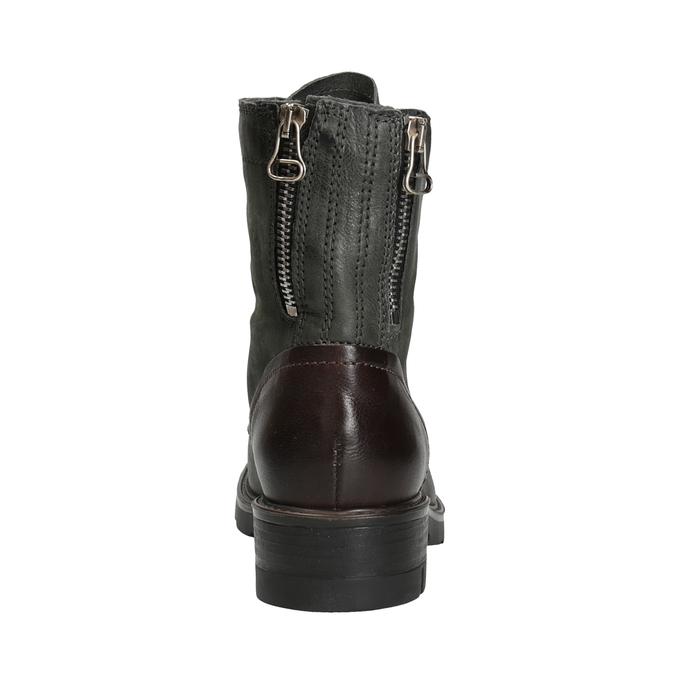 Kožená dámská obuv bata, šedá, 596-2616 - 16