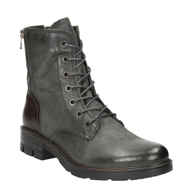 Kožená dámská obuv bata, šedá, 596-2616 - 13