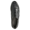 Kožené polobotky na podpatku gabor, černá, 614-6124 - 15