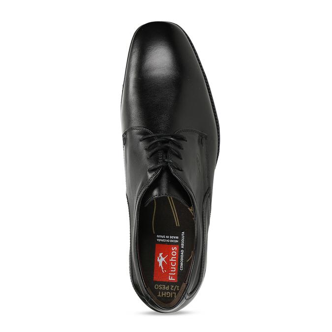 Kožené derby pánské černé polobotky fluchos, černá, 824-6440 - 17