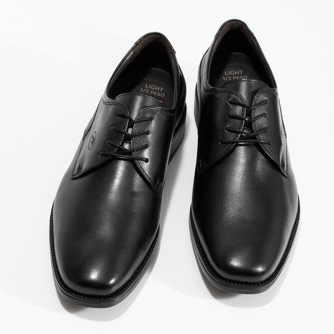 Kožené derby pánské černé polobotky fluchos, černá, 824-6440 - 16