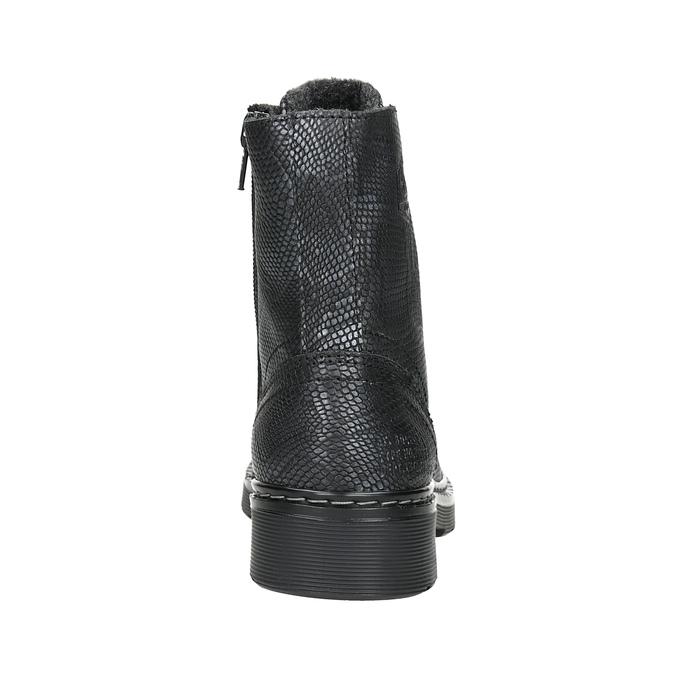Dětské kožené šněrovací boty bullboxer, černá, 496-6016 - 16