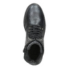 Dětské kožené šněrovací boty bullboxer, černá, 496-6016 - 15