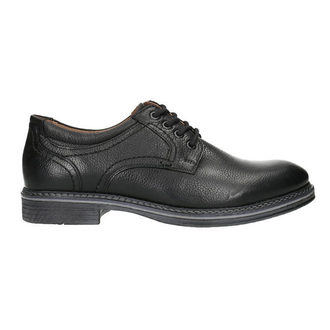 Pánské kožené Derby polobotky bata, černá, 824-6926 - 15
