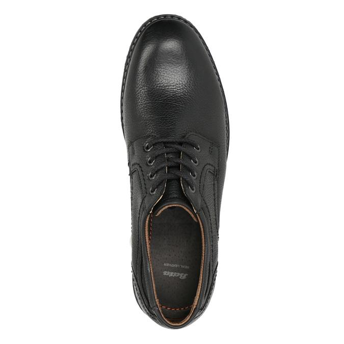 Pánské kožené Derby polobotky bata, černá, 824-6926 - 26