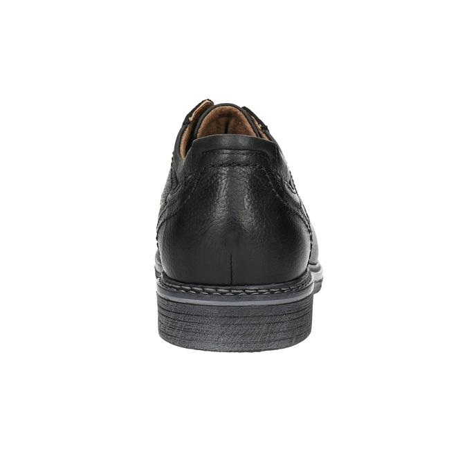 Pánské kožené Derby polobotky bata, černá, 824-6926 - 17