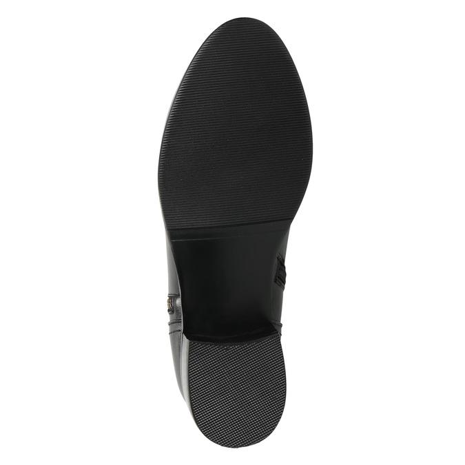 Kožená kotníčková obuv se zlatými zipy bata, černá, 594-6654 - 19