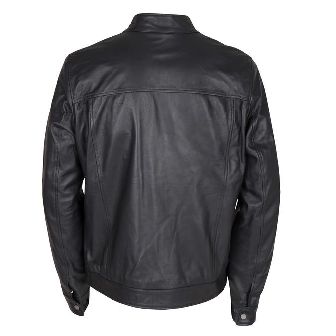 Pánská kožená bunda bata, černá, 974-6154 - 26