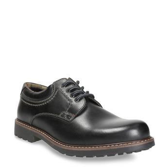Kožené pánské polobotky bata, černá, 826-6619 - 13