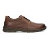 Hnědé kožené ležérní polobotky bata, hnědá, 826-4918 - 19