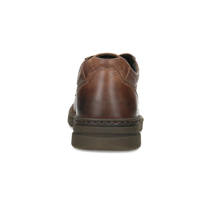 Hnědé kožené ležérní polobotky bata, hnědá, 826-4918 - 15