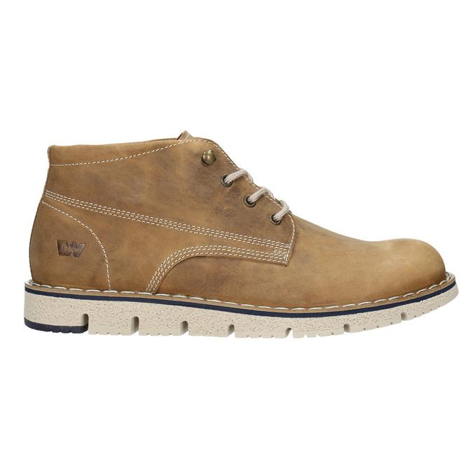 Kožená kotníčková obuv na výrazné podešvi weinbrenner, hnědá, 846-4658 - 26