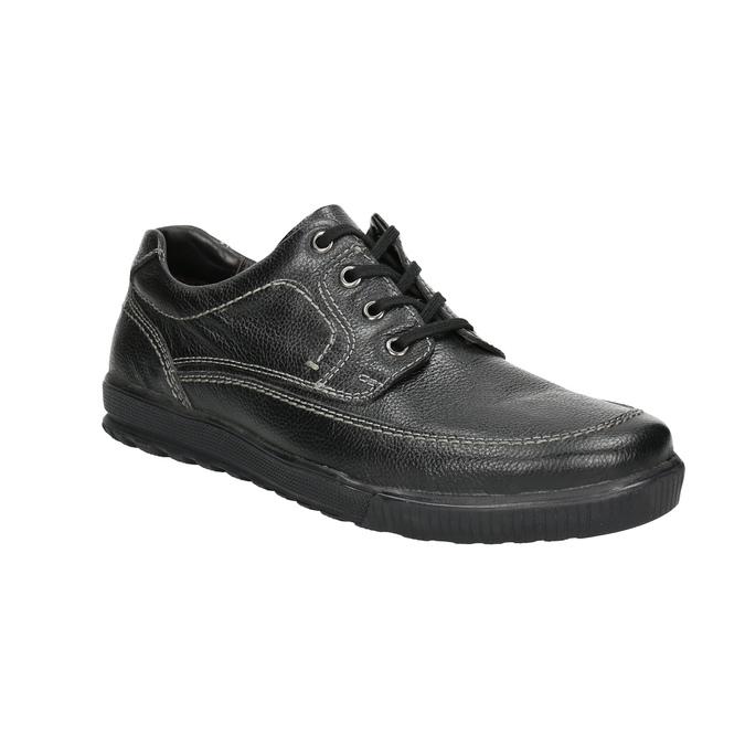 Kožené polobotky s ležérní podešví bata, černá, 824-6925 - 13