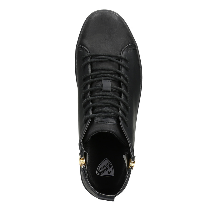 Černé kotníčkové tenisky atletico, černá, 501-6172 - 15