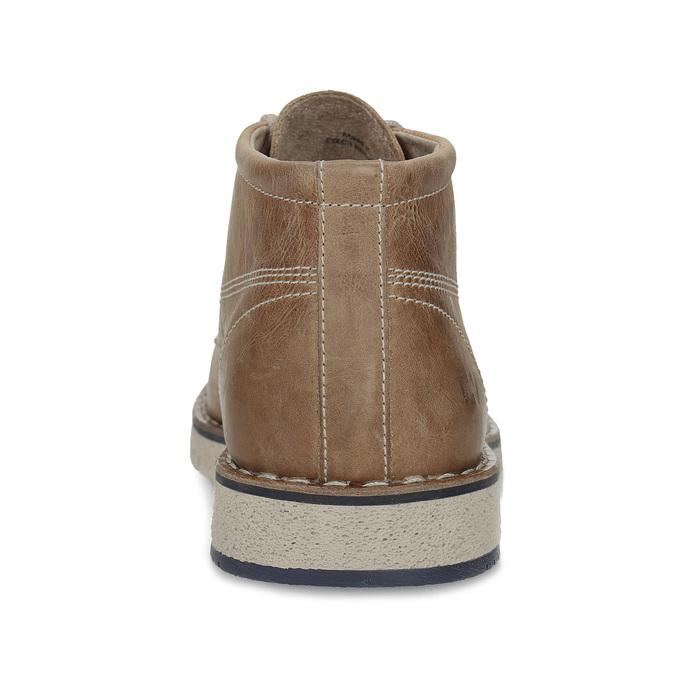 Kožená kotníčková obuv na výrazné podešvi weinbrenner, hnědá, 846-4658 - 15