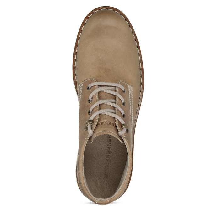 Kožená kotníčková obuv na výrazné podešvi weinbrenner, hnědá, 846-4658 - 17