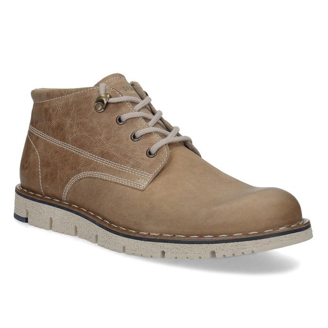 Kožená kotníčková obuv na výrazné podešvi weinbrenner, hnědá, 846-4658 - 13