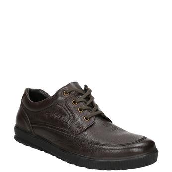 Ležérní kožené polobotky bata, hnědá, 824-4925 - 13