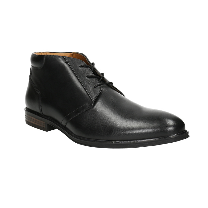 Kožená pánská kotníčková obuv bata, černá, 824-6913 - 13