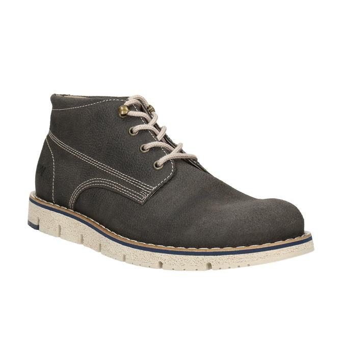 Kotníčková pánská obuv s výraznou podešví weinbrenner, šedá, 846-2657 - 13