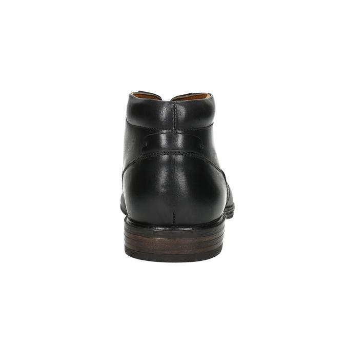 Kožená pánská kotníčková obuv bata, černá, 824-6913 - 17