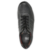 Pánské kožené tenisky bata, černá, 824-6921 - 26