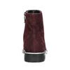Kotníčková obuv z broušené kůže bata, červená, 593-5603 - 17