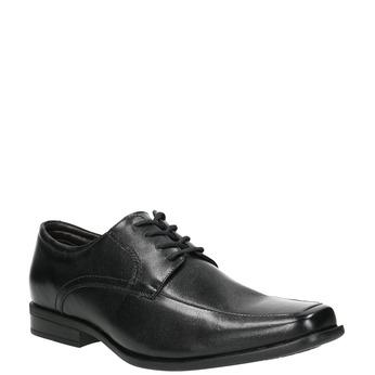 Černé kožené polobotky bata, černá, 824-6600 - 13