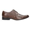 Hnědé kožené polobotky bata, hnědá, 824-4600 - 15