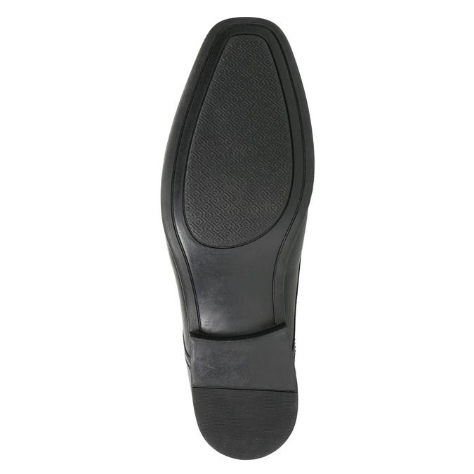 Kožené pánské Loafers bata, černá, 814-6623 - 19