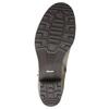 Kožené kotníčkové kozačky s přezkou bata, béžová, 696-2621 - 26